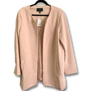 LE CHATEAU OPEN FRONT RIBBED LONG SLEEVE JACKET
